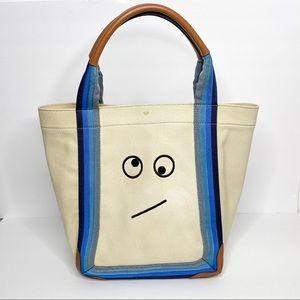 Anya Hindmarch canvas Amused Face Ponte Tote Bag
